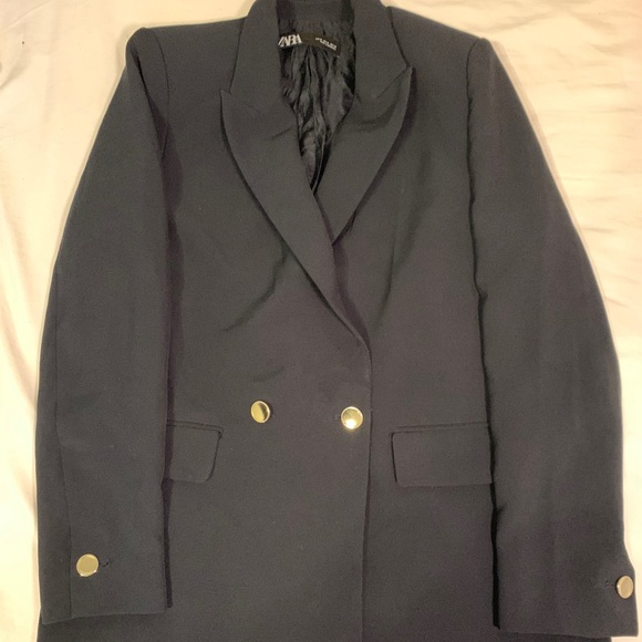 Zara oversized navy blazer